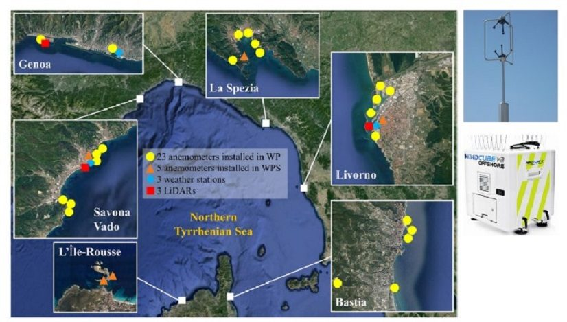 """The wind monitoring network of the European Porject """"Wind and Ports"""""""